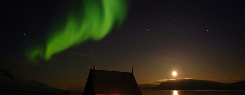 Polarlicht, Svalbard, Spitzbergen