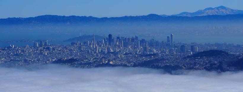 San Francisco, Skyline, Pilot, Hochhäuser, Nebel,