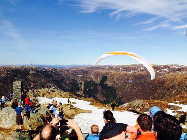 Ulriken Paragliding Bergen Norwegen