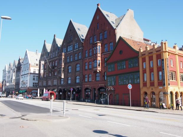 Bryggen Bergen Reise Lokal Restaurant Norwegen