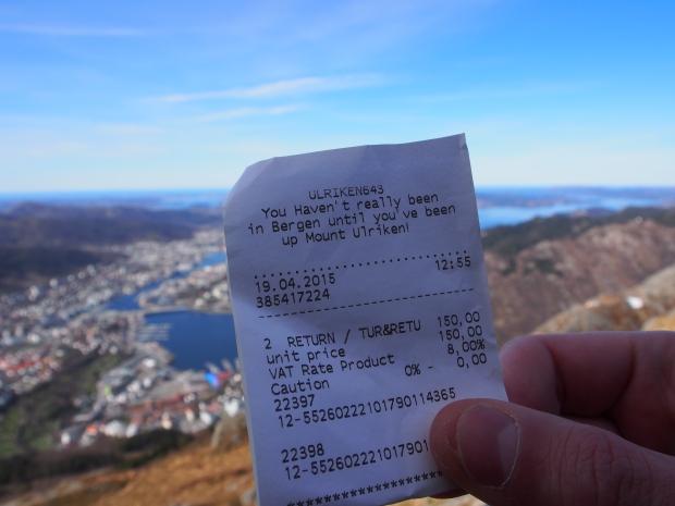 Seilbahn Bergen Ulriken Norwegen Reise