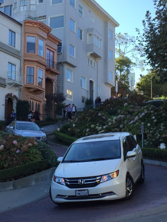 Touristenattraktion, Lombard Street, San Francisco