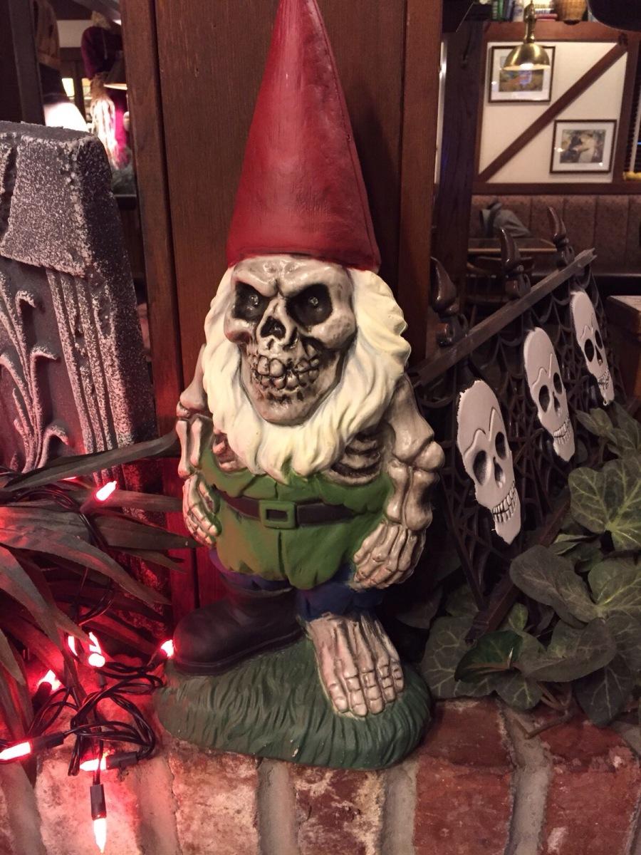 Halloween-Gartenzwerg, Grusel Gartenzwerg, Halloween
