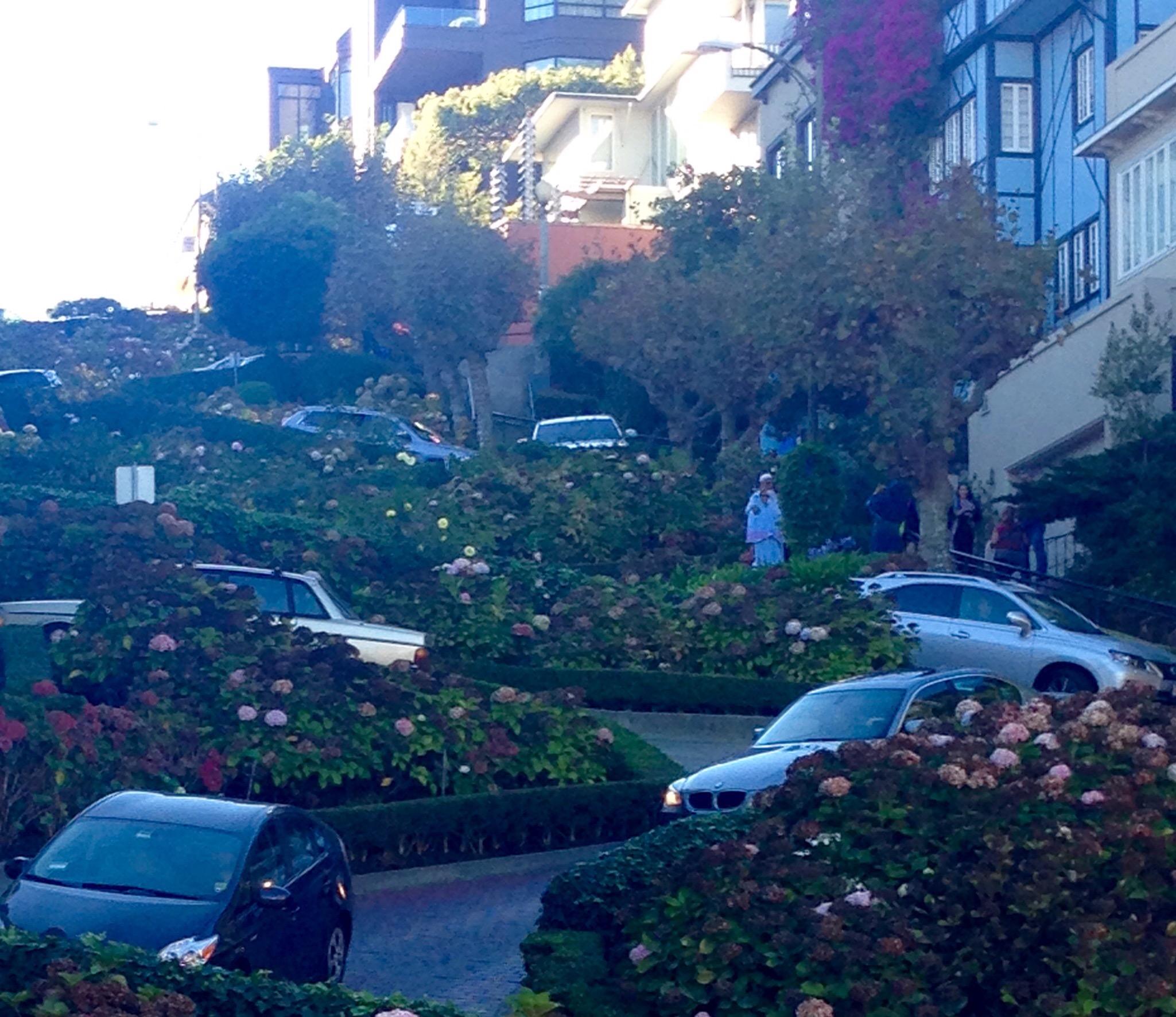 Lombard Street, San Francisco, kurvenreichste Straße der Welt