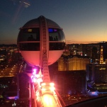 Attraktion, Touristenattraktion, Sehenswürdigkeit, Highroller, Riesenrad, Las Vegas, Strip, Ausblick, Skyline, Fahrt