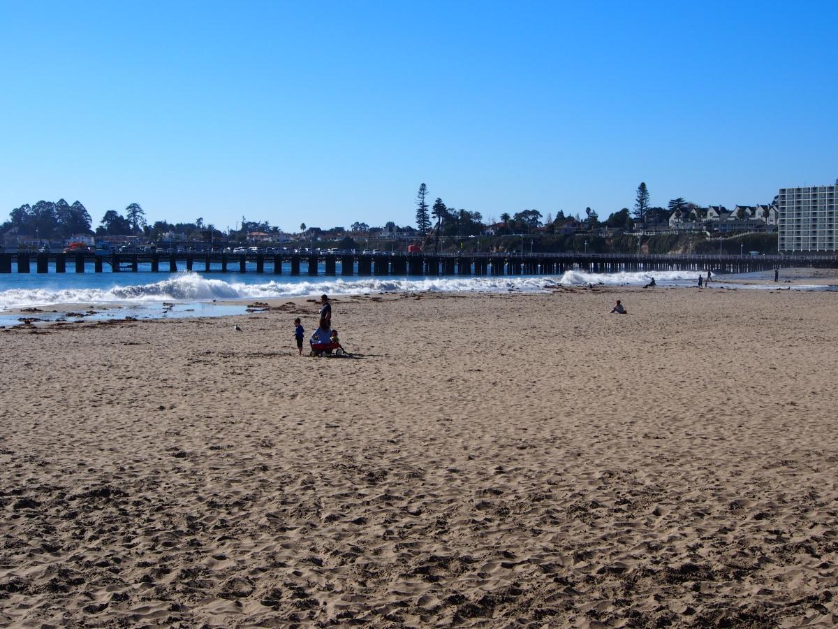 Strandausflug, Santa Cruz, Kalifornien, USA, Entspannen