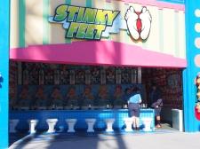 Stinky Feet Santa Cruz, Boardwalk, Spiel, Spielbuden, Vergnügungspark, Spaß, Wochenende