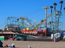 Achterbahn, Strand, Pazifik, Kalifornien, USA, Ausflugsziel, Santa Cruz, Boardwalk, Vergnügungspark