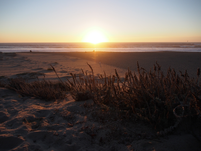 Pazifik, Sonnenuntergang, Küste, Strand, Meer,
