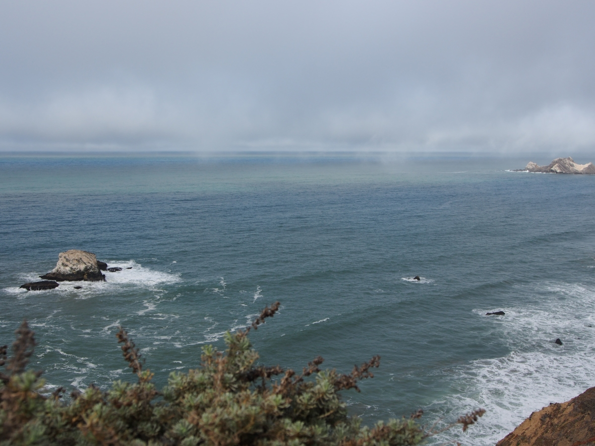 Pazifik, Küste, Wandern, Wanderweg, Devil's Slide Trail