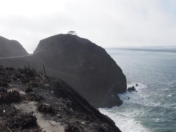 Steilküste, Walbeobachtungspunkt, Walwanderung, Devil's Slide Trail, Ausfzugsziel