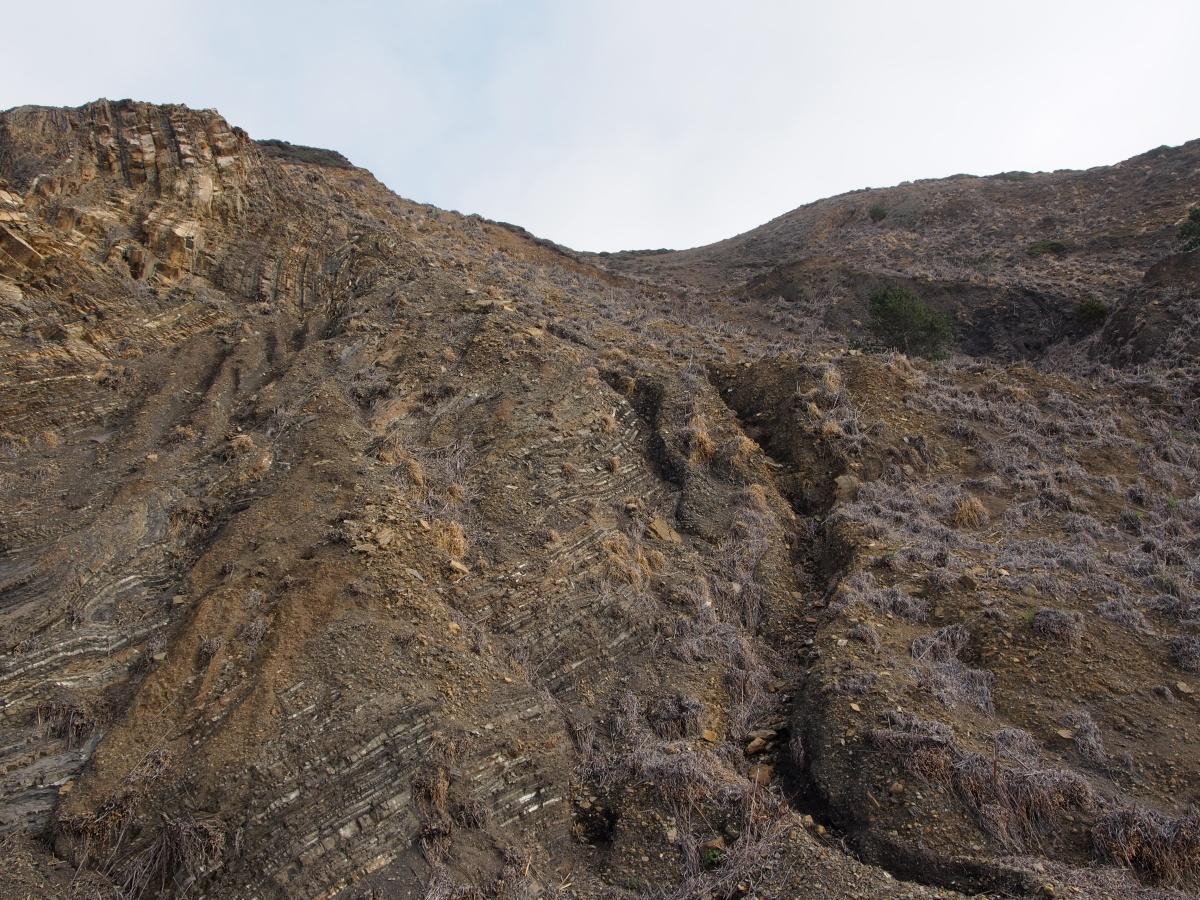 Dürre, Kalifornien, USA, Steilküste
