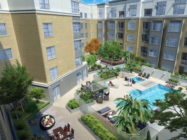 Apartment Komplex, USA, Pool