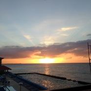 Sonnenuntergang, havanna, Kuba