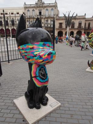 Plaza Vieja, Kuba, Havanna, Statuen, Kunst, Streetart