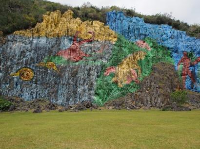 Mural de la Prehistoria, naive Malerei, Ausflugsziel, Sehenswürdigkeit, Ausflug