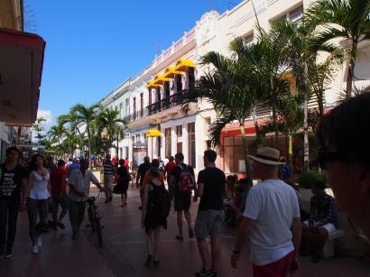 Fußgängerzone, Cienfuegos, Kuba, Einkaufstraße