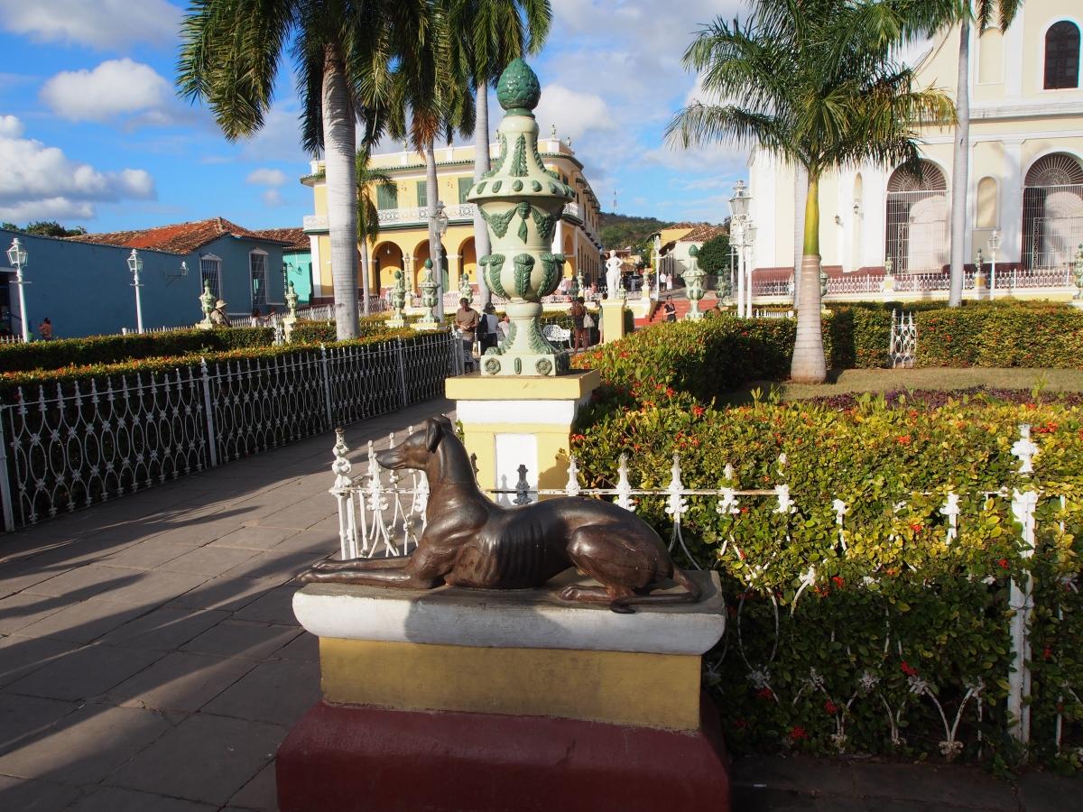Plaza Mayor, Hauptplatz, Statue, Trinidad, Kuba