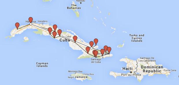 Route, Rundreise, Kuba,