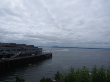 Olympic Sculpture Park, Seattle, Bucht, Wolken, Wetter, USA, Washington, Kurztrip, Wochenendausflug, Ausflug