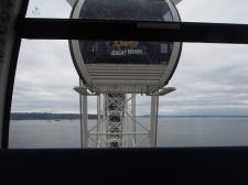 Seattle, Great Wheel, Riesenrad, USA, Sightseeing, Kurztrip, Ausflug, Ausflugsziel, was muss man in Seattle machen, Besichtigung, Wochenendausflug, Gondel, Goldenblick, Kabine, geschlossen