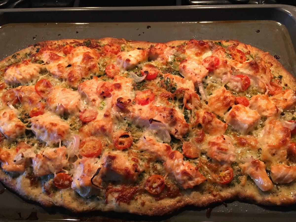 Lachspizza mit Lachs – \