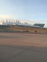 Flughafen, Denver, Colorado, Gebäude, Terminal