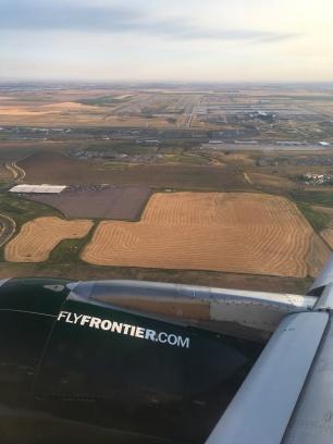 Flugzeug, Ausblick, Colorado, Felder, Amerika