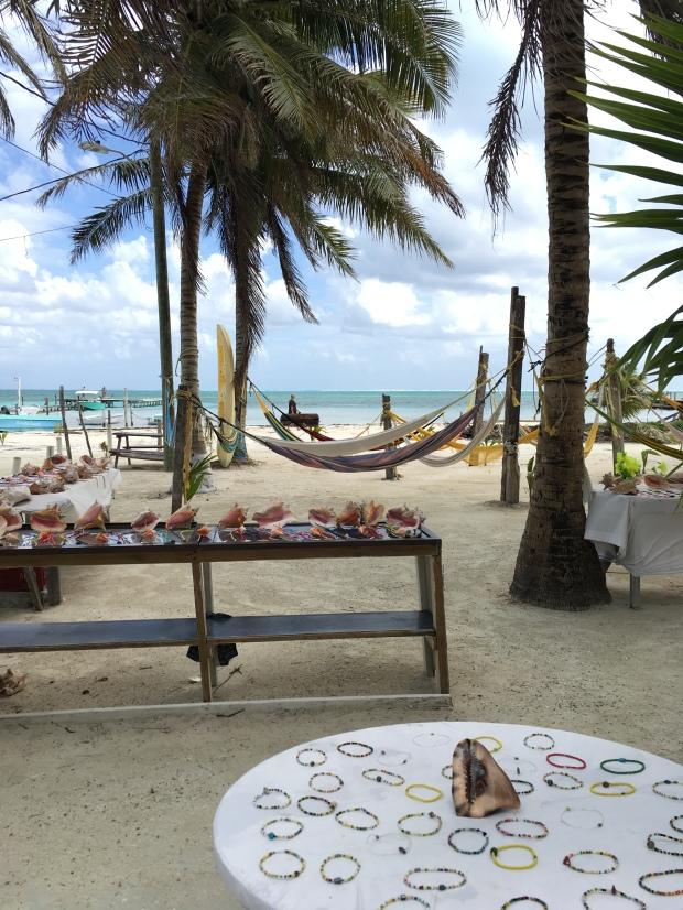 Insel, Caye Caulker, Belize, Koralleninsel, Hängematte, Muscheln, Palmen, Strand, Meer, Lateinamerika, Einsteigerland, Zentralamerika, Reise