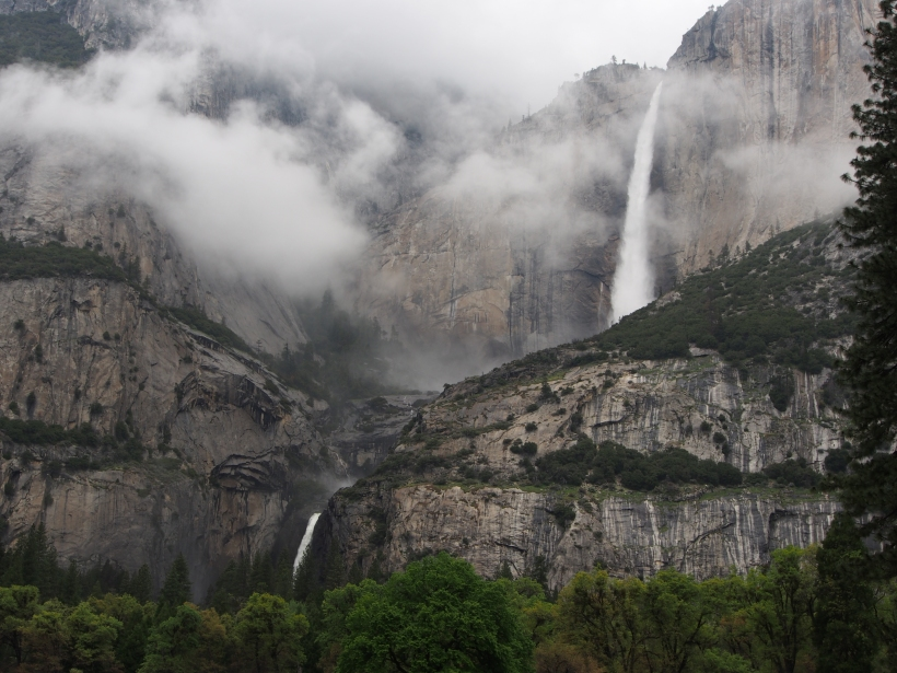 Yosemite, Nationalpark, Upper Yosemite Fall, Lower Yosemite Fall, Wasserfall, Kalifornien, Sehenswürdigkeit