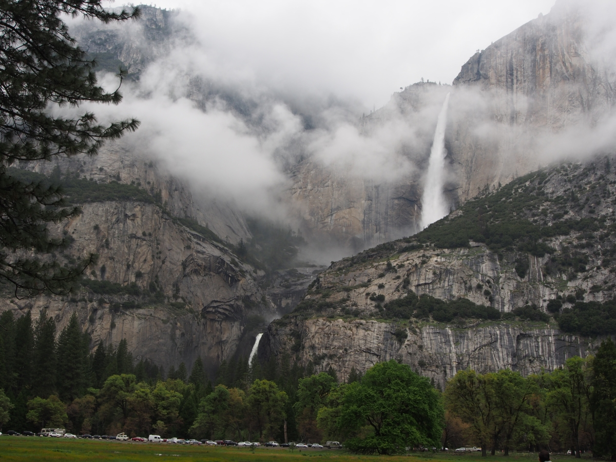Upper lower Yosemite Falls, Nationalpark, California, Wasserfall