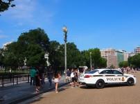 Secret Service vor dem Weißen Haus.