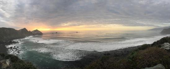 Sonnenuntergang über dem Pazifik in Kalifornien
